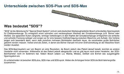 SDS PLUS Hammerbohrer Betonbohrer Steinbohrer Quadro - X Kreuzschneide 4 - 25 mm 10