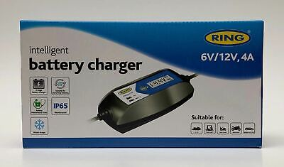 Ring 4A Intelligent Smart Battery Maintenance Charger 12V 6V Charges Twice  Fast 4