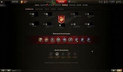 World of Tanks - Super Unicum Account - 3600 WN8 - 65% WR