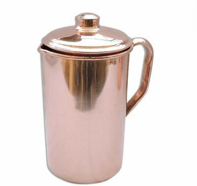 Pure Copper Smooth Water Jug/Copper Pitcher for Ayurveda Health Benefit 100% NEW 2
