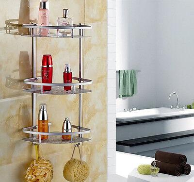 3 LAYER TRIANGULAR Shower Shelf Bathroom Corner Rack Storage Basket ...