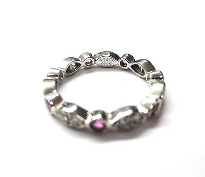 6f7c2f0cd ... available Tiffany & Co. Platinum Swing Jazz Ring Band with Pink  Sapphires and Diamonds 2