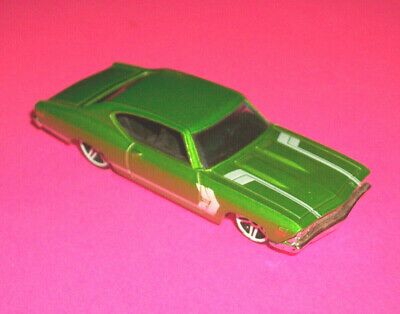 HOTWHEELS METALFLAKE LIME GREEN /'69 1969 FORD MUSTANG MADE IN MALAYSIA