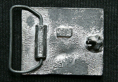 Beautiful Vintage Pewter Made Sailboat Belt Buckle,  Made in U.S.A 2