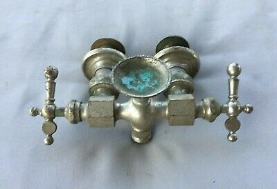 Antique Nickel Brass Claw Foot Bathtub Faucet Old Vtg Haydenville Co. 235-19J 2