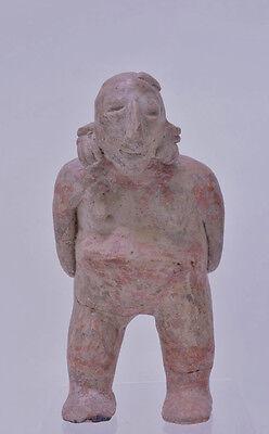 "Large Fine Pre-Columbian Pottery Figure  9 1/2"" x 5"" x 3"" 12"