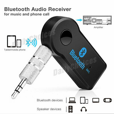 Wireless Bluetooth 3.5mm AUX Audio Stereo Music Home Car Receiver Adapter 2