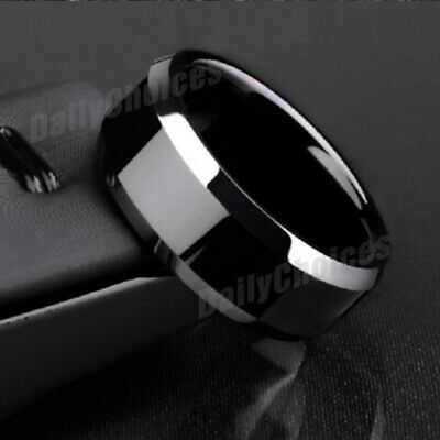 Mens Titanium Stainless Steel Ring Promise Engagement Wedding Ring Band Size8-11 5