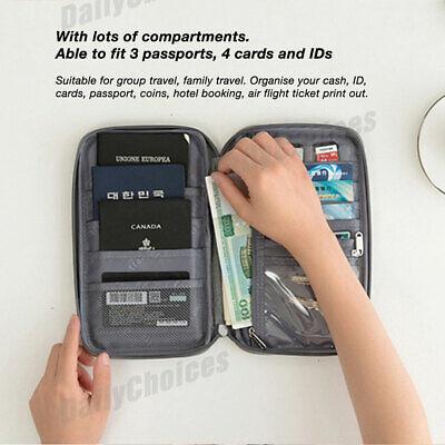 Family Travel Organiser Passport Document Holder RFID Cards Tickets Wallet Pouch 3