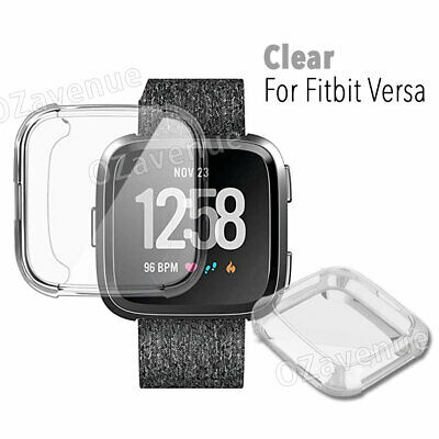 For Fitbit Versa Silicone TPU Shell Case Screen Protector Frame Cover hot new BO 11