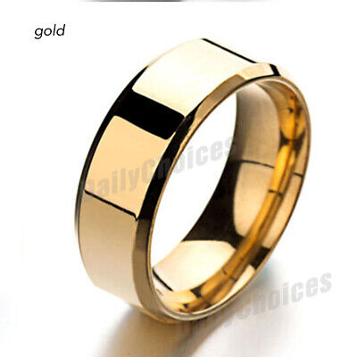 Mens Titanium Stainless Steel Ring Promise Engagement Wedding Ring Band Size8-11 8