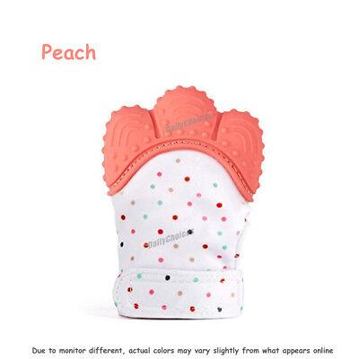 Silicone Baby Teether Teething Mitt Mitten Glove Safe BPA Free Chew Dummy Toy AU 12