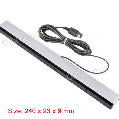 Infrared Ray Wireless Sensor Bar for Nintendo Wii / Wii U / Wii Mini Console AU 6