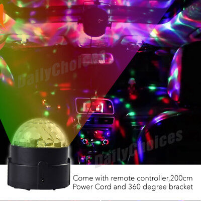 USB RGB LED Disco Ball DJ Party Light Effect Strobe Remote Sound Activated Auto 4