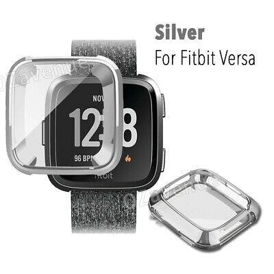 For Fitbit Versa Silicone TPU Shell Case Screen Protector Frame Cover hot new BO 8