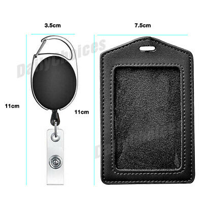 Retractable Lanyard ID Badge Opal Card Holder Business Security Pass AU STOCK 5