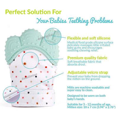 Silicone Baby Teether Teething Mitt Mitten Glove Safe BPA Free Chew Dummy Toy AU 7
