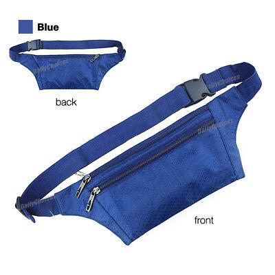 Running Hiking Sport Bum Bag Travel Money Phone Fanny Pack Waist Belt Zip Pouch 8