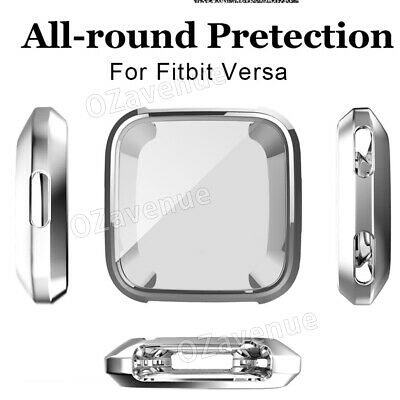 For Fitbit Versa Silicone TPU Shell Case Screen Protector Frame Cover hot new BO 5