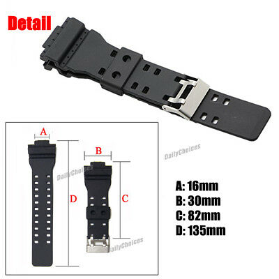16mm Watch Band Strap Fits Casio G Shock Ga 100 G 8900 Gw 8900 Pins Tool G Shock