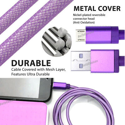 Braided USB Charger Cable for PLAYSTATION PS4 Dualshock 4 Wireless Controller 5