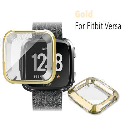 For Fitbit Versa Silicone TPU Shell Case Screen Protector Frame Cover hot new BO 9