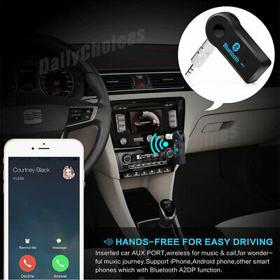 Wireless Bluetooth 3.5mm AUX Audio Stereo Music Home Car Receiver Adapter 3