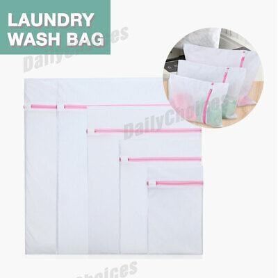 Laundry Wash Bag Washing Aid Zipper Mesh Clothes Bra Delicate Large S M L 2