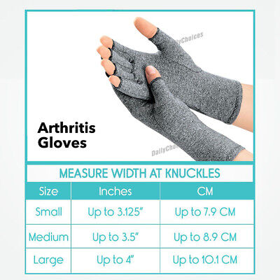Arthritis Gloves Compression Joint Finger Pain Relief Hand Wrist Support Brace 10