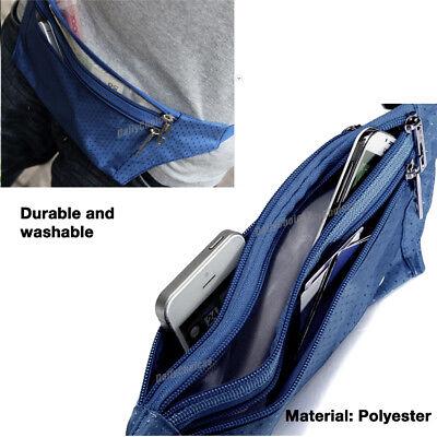 Running Hiking Sport Bum Bag Travel Money Phone Fanny Pack Waist Belt Zip Pouch 5