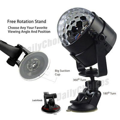 USB RGB LED Disco Ball DJ Party Light Effect Strobe Remote Sound Activated Auto 10