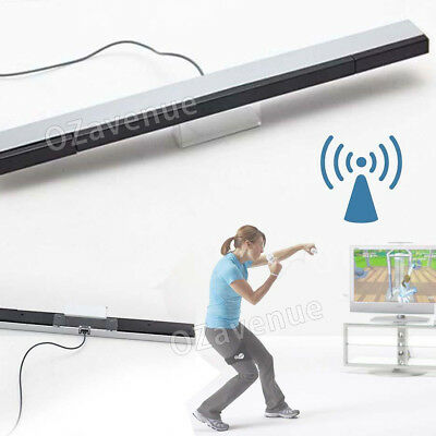 Infrared Ray Wireless Sensor Bar for Nintendo Wii / Wii U / Wii Mini Console AU 5