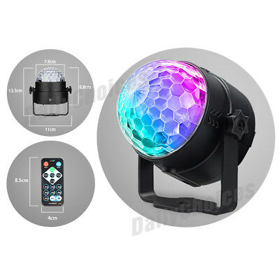 USB RGB LED Disco Ball DJ Party Light Effect Strobe Remote Sound Activated Auto 8