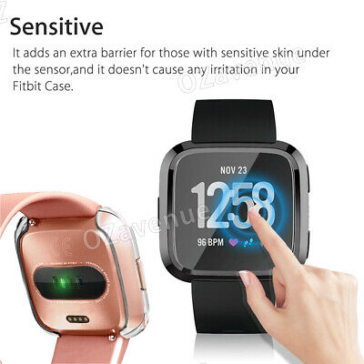 For Fitbit Versa Silicone TPU Shell Case Screen Protector Frame Cover hot new BO 6