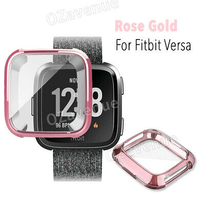 For Fitbit Versa Silicone TPU Shell Case Screen Protector Frame Cover hot new BO 7