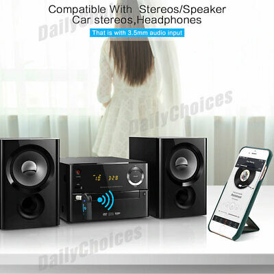 Wireless Bluetooth 3.5mm AUX Audio Stereo Music Home Car Receiver Adapter 4
