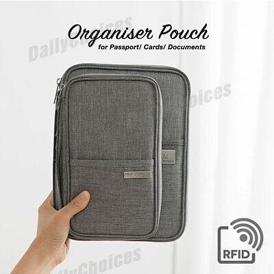 Family Travel Organiser Passport Document Holder RFID Cards Tickets Wallet Pouch 2