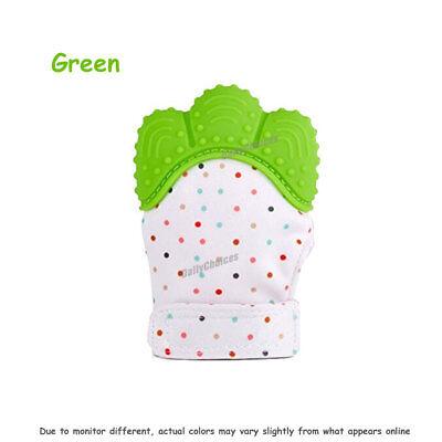Silicone Baby Teether Teething Mitt Mitten Glove Safe BPA Free Chew Dummy Toy AU 11