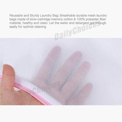 Laundry Wash Bag Washing Aid Zipper Mesh Clothes Bra Delicate Large S M L 4