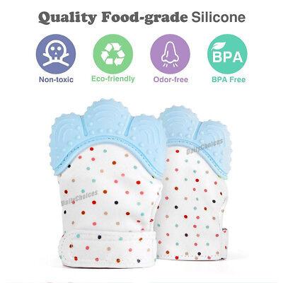 Silicone Baby Teether Teething Mitt Mitten Glove Safe BPA Free Chew Dummy Toy AU 5