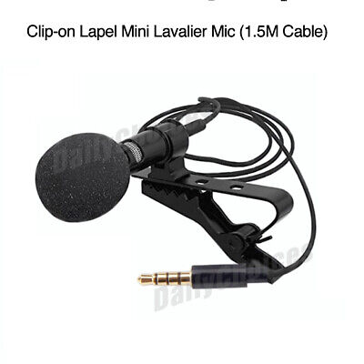 Lavalier Microphone 3.5mm Lapel Clip-on Mic for iPhone & Android Smartphones 8