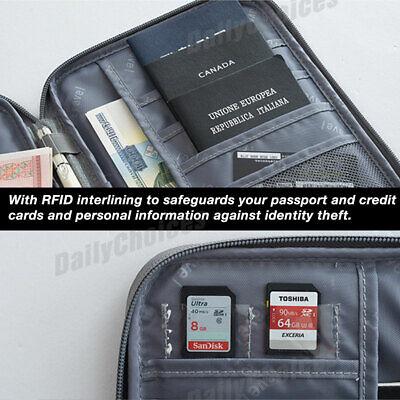 Family Travel Organiser Passport Document Holder RFID Cards Tickets Wallet Pouch 5