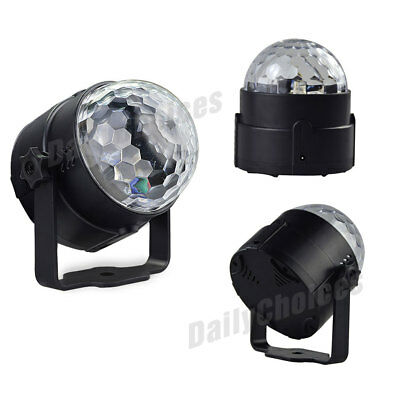 USB RGB LED Disco Ball DJ Party Light Effect Strobe Remote Sound Activated Auto 9