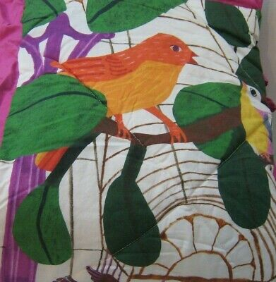 NEW Anthropologie Kew Garden Baby Toddler Quilt Monika Forsberg Swan Song
