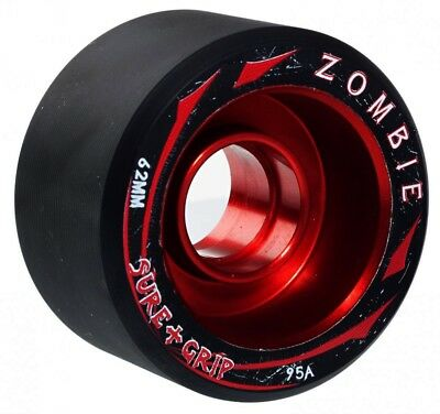 Sure-Grip Zombie Max Quad Skate Indoor Speed Wheels 62mm  (Pack of 4)