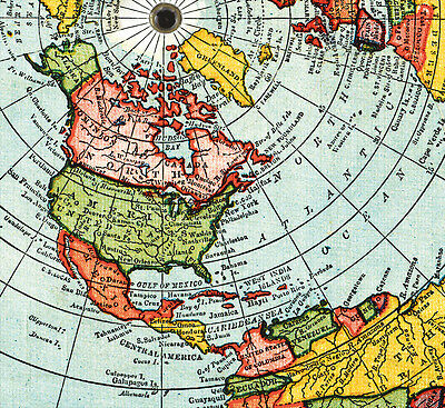 New Flat Earth Map.Flat Earth Map 3 Gleason S New Standard Maps Of The World Large