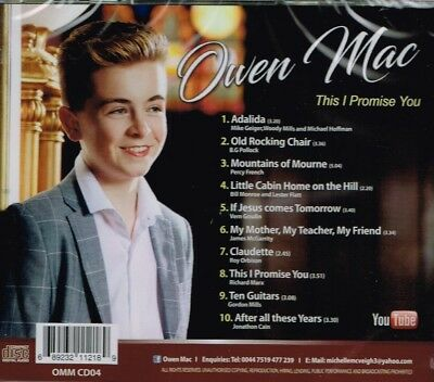 """OWEN MAC Brand New CD """"THIS I PROMISE YOU""""  - IRISH COUNTRY 2"""