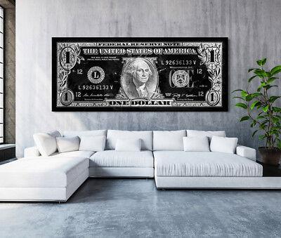 Cashflow 3 Bilder Bild Dollar Geld auf Leinwand Wandbild Poster