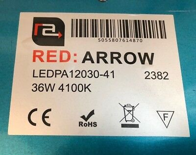 Pair Red Arrow 36w LED Panel Lights - 1195x295 - 4100k 4