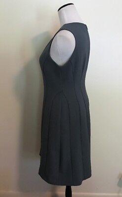 80759c728f58 ... Ann Taylor Loft Blue sleeveless A-line flare dress Medium Size 8 Lined  women's 3